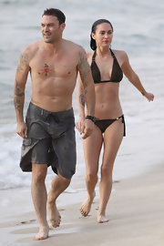 Brian Austin Green has his gorgeous wife's name tattooed over the left pectoral muscle.