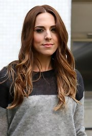 Mel C was boho chic at the London Studios with this long wavy 'do.