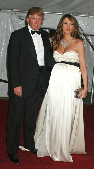 Melania Trump Strapless Dress
