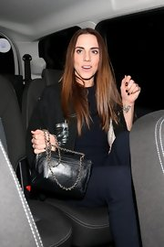 Mel C. stepped out with a black chain-strap shoulder bag.