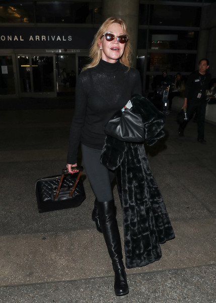 Melanie Griffith Over the Knee Boots []