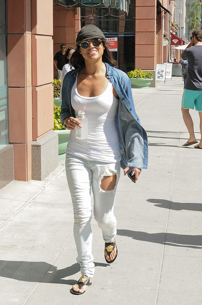 Michelle Rodriguez Denim Shirt