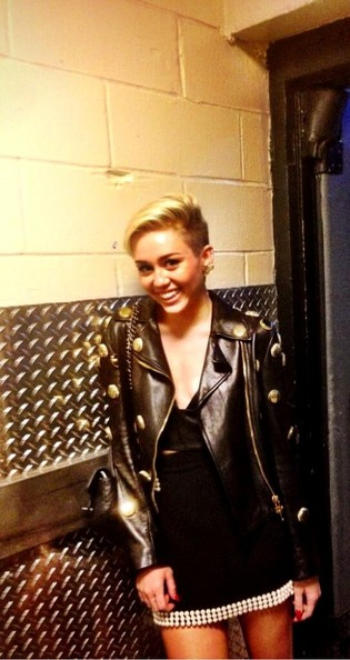 Miley Cyrus Leather Jacket