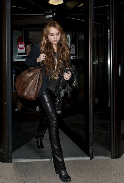 Miley Cyrus Leather Pants