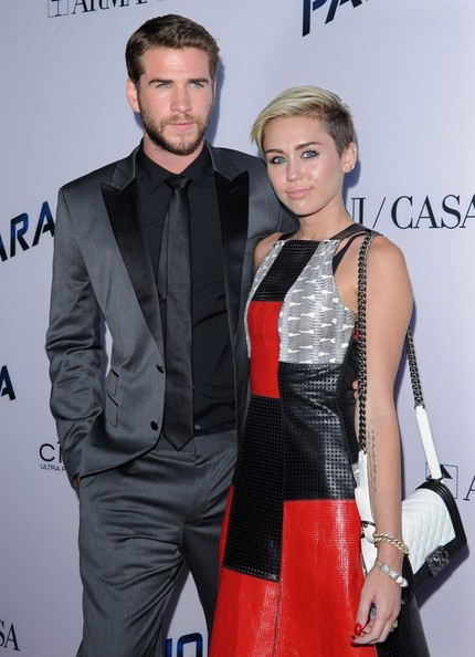 Miley Cyrus Quilted Leather Bag