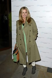 Caggie Dunlop was spotted at the Nouveau Lashes launch in a pair of biker boots.