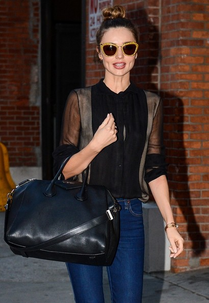 More Pics of Miranda Kerr Fitted Blouse (5 of 10) - Miranda Kerr Lookbook - StyleBistro