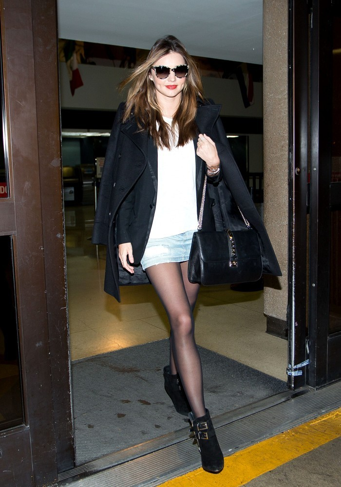Miranda Kerr Flies in Style