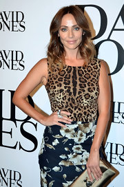 Natalie Imbruglia experimented with clashing prints at the David Jones fashion launch, pairing a leopard-print top with a floral skirt.