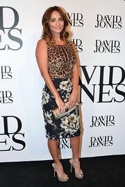 Natalie Imbruglia certainly stood out in this leopard-print top and floral pencil skirt combo at the David Jones fashion launch.