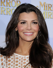 Ali Landry wore her long luxurious tresses in sleek layers while attending the world premiere of 'Mirror Mirror.'