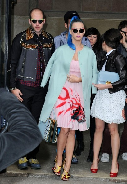 Celebrity Arrivals at the Miu Miu Show at Paris Fashion Week