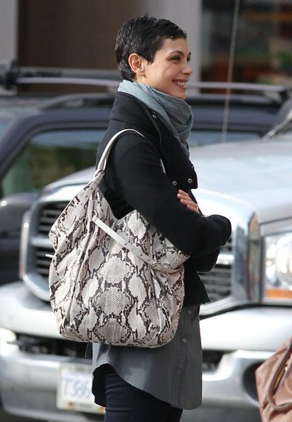 Morena Baccarin Printed Shoulder Bag