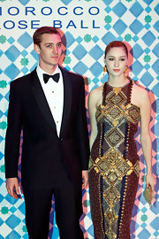 Beatrice's jewel-toned Moroccan-print evening dress was the perfect choice for the Morocco Rose Ball.