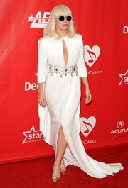 Even with that cleavage-baring cutout, Lady Gaga's white Alexis Mabille Couture gown at the MusiCares Person of the Year Tribute looked super classy!