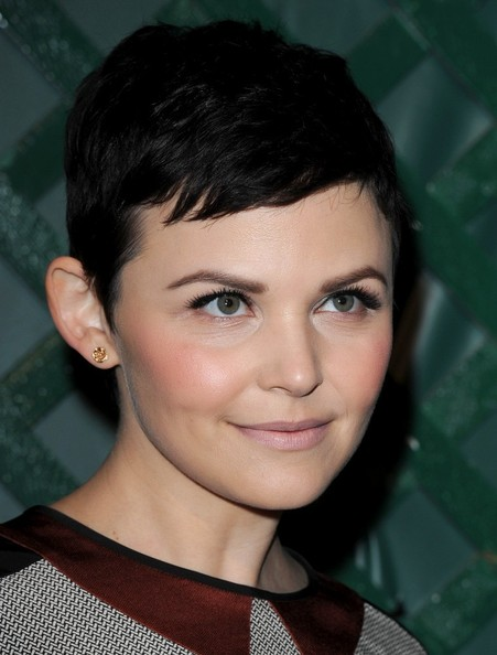 Ginnifer Goodwin arrived at the 'My Valentine' video premiere wearing a mod-looking matte pale pinky-beige lipstick.