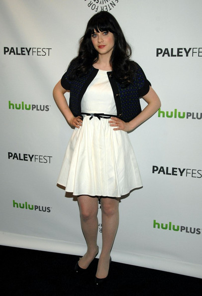 Zooey+Deschanel in Cast of 'New Girl' at PaleyFest 2012
