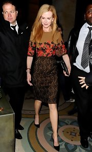 Nicole Kidman accessorized with classic stilettos.