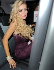 Nicola McLean had her blonde hair curled for the OK! Magazine Christmas Party.