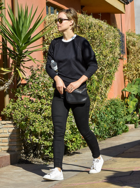 Olivia Wilde Leather Sneakers