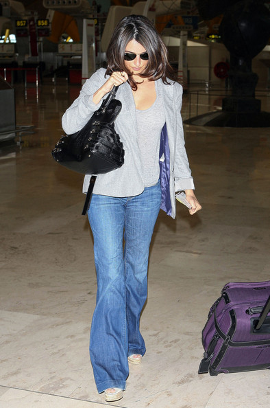Penelope Cruz Leather Bowler Bag