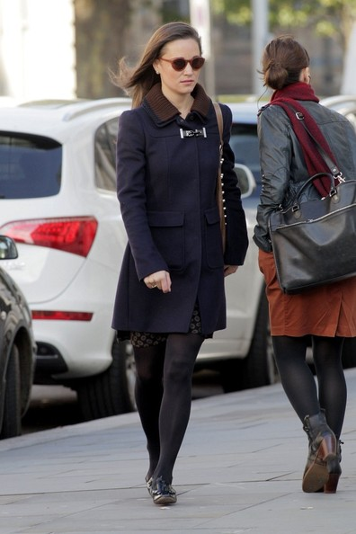 More Pics of Pippa Middleton Leather Slip On Shoes (1 of 19) - Loafers Lookbook - StyleBistro