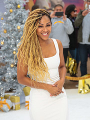 Meagan Good rocked side-swept dreadlocks at the premiere of 'The Star.'