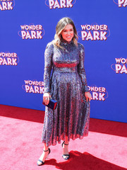 Rachel Platten sparkled in a sequined midi dress by Escada at the premiere of 'Wonder Park.'