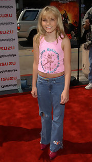 Jamie Lynn Spears attended the premiere of 'Spy Kids 2: Island of Lost Dreams' in blue ripped jeans.