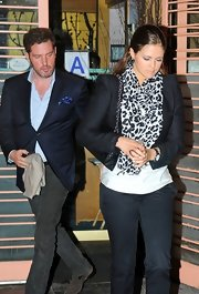 Princess Madeleine wore a structured cropped blazer as she dined with Queen Silvia at Nippon restaurant.
