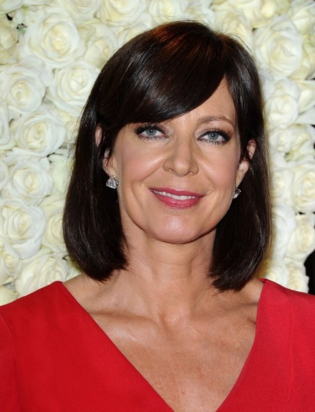 More Pics of Allison Janney Medium Straight Cut with Bangs (2 of 8) - Allison Janney Lookbook - StyleBistro