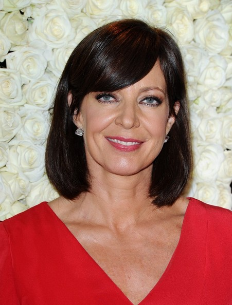 More Pics of Allison Janney Medium Straight Cut with Bangs (4 of 8) - Allison Janney Lookbook - StyleBistro