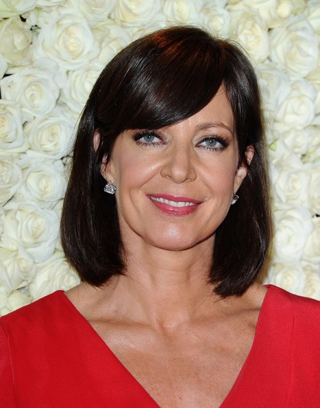More Pics of Allison Janney Medium Straight Cut with Bangs (3 of 8) - Allison Janney Lookbook - StyleBistro