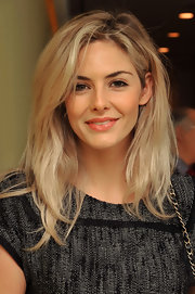 Tamsin Egerton looked pretty with less eye makeup on and subtle orange lip color at the reception of 'The Nutcracker.'
