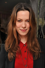 Rebecca Hall wore her hair straight and super-casual at a reception of 'The Nutcracker' in London.