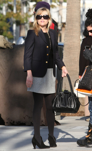 Reese Witherspoon Leather Shoulder Bag []