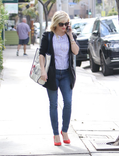 Reese Witherspoon Print Blouse