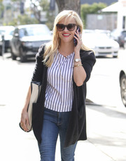 Reese Witherspoon was spotted out and about on a sunny day wearing a pair of chic butterfly sunglasses.