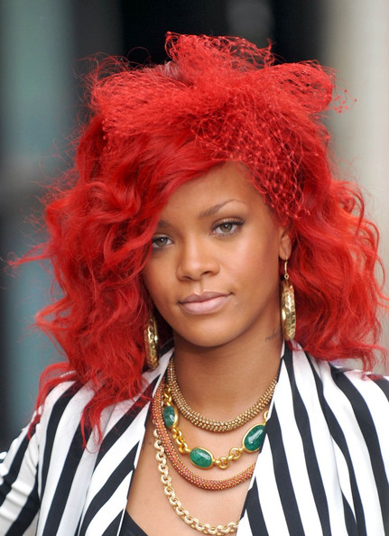 rihanna red hair hot. Rihanna+red+hair+2011+