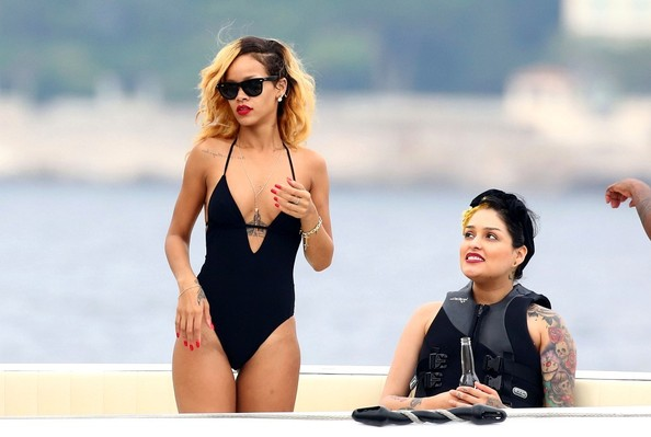 Rihanna and Cara Delevigne Vacation in France