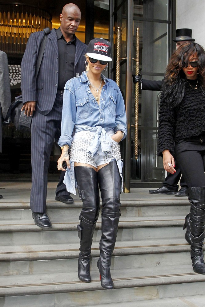 more pics of rihanna the knee boots 2 of 16