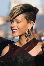 A hairstyle as fierce as Rihanna's deserves some fierce accompaniment. These over-the-top earrings are total statement pieces.
