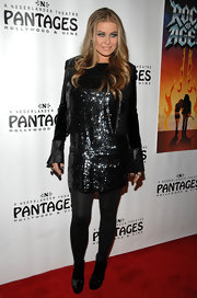 Carmen Electra dazzled in a sequin cocktail dress at the premiere of 'Rock of Ages.'