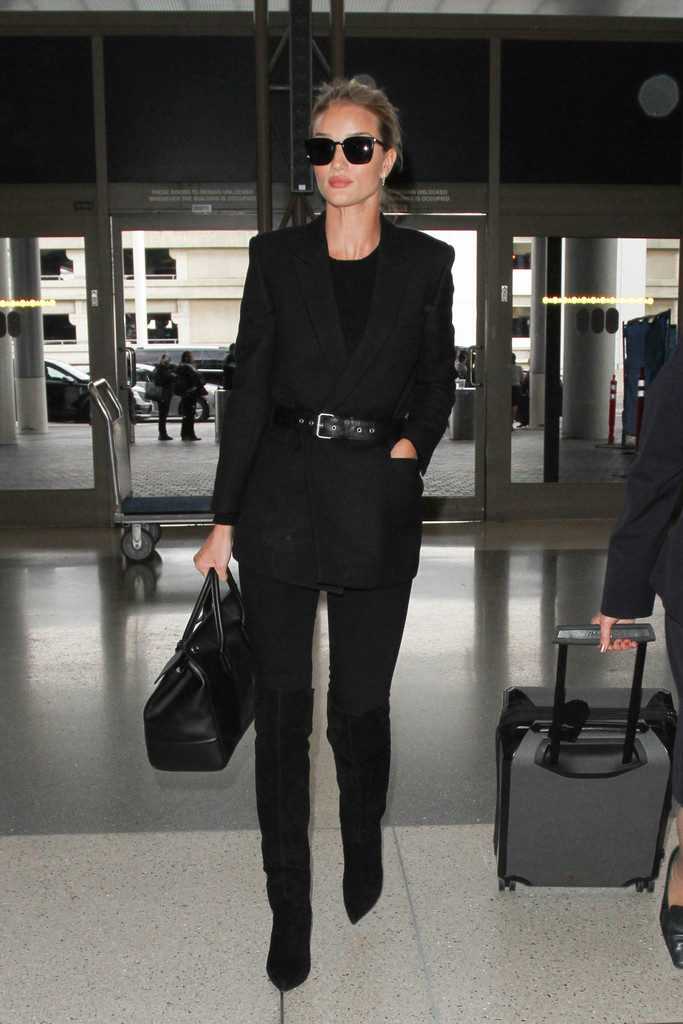bc3a20a2 Rosie Huntington-Whiteley Over the Knee Boots Looks - StyleBistro