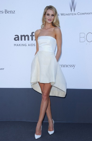Rosie Huntington-Whiteley Strapless Dress