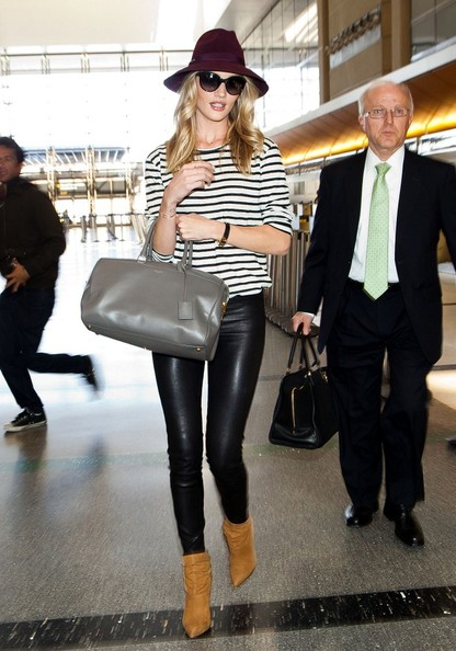 More Pics of Rosie Huntington-Whiteley Leather Pants (4 of 20) - Rosie Huntington-Whiteley Lookbook - StyleBistro