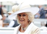 Camilla sported a classic white hat with cream detailing at the Royal Ascot's Opening Day.