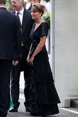 Carole Middleton Is Absolutely Elegant in a Black Evening Gown at the Royal Wedding After-Party