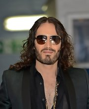 Russell Brand's aviator shades were cool and edgy for the funny man.