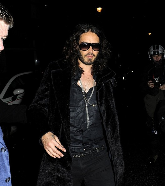 Russell Brand Fur Coat
